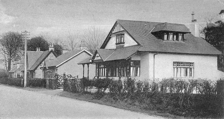 The Bungalow Tearoom on Kilmarnock Road. Now a private house