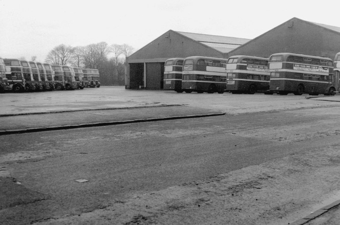 Western SMT bus depot which stood where the two storey car park is on Barrhead Road.