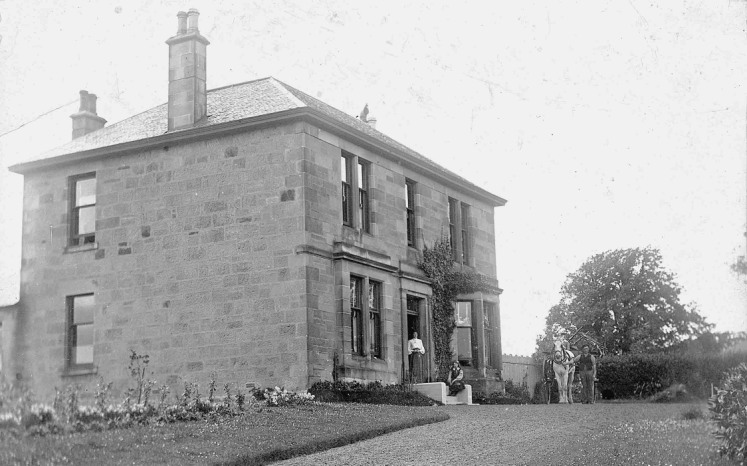 Firwood House on Eaglesham Road, built by Dr. Mackinlay for his marriage in 1891.