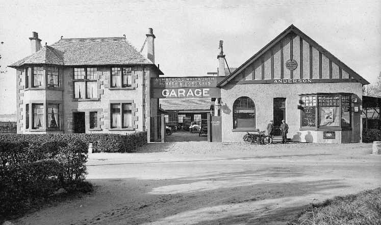 Craigard, the home of Robert Anderson, built beside the garage,