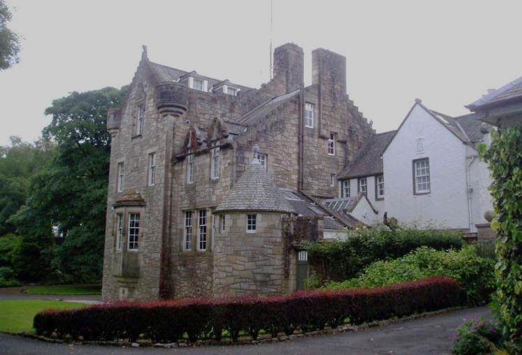 Fa'side House. The tower house was built by Wallace Fairweather in 1911.