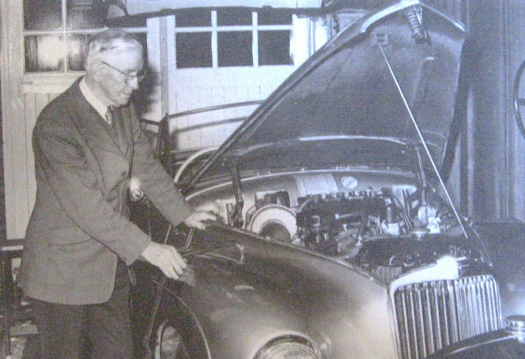 James Anderson with his Stirling Moss Sunbeam Talbot