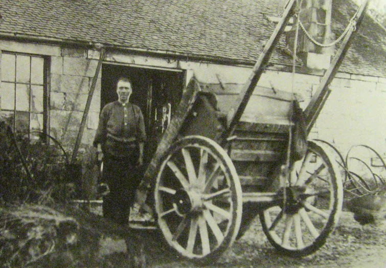 Jimmie Ritchie the Blacksmith at Eastfield, Mearnskirk