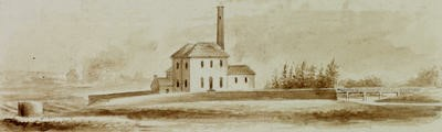 Picture of Cranstonhill Water Works at Dalmarnock by permission of Glasgow University Library - Special Collections