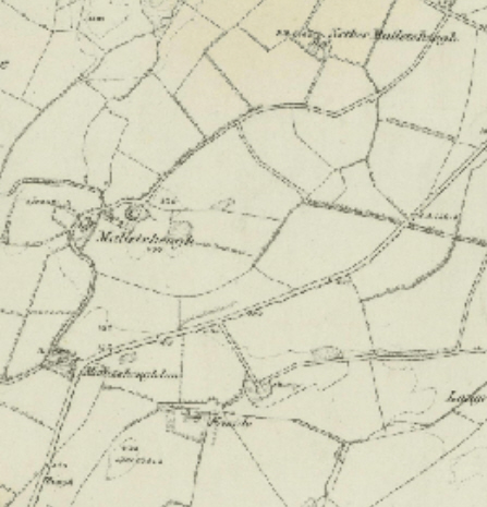 1856 Ordnance Survey Map of Malletsheugh