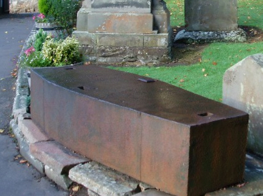 A mortsafe - one way of protecting a corpse