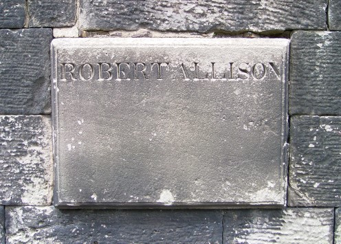 Gravestone of Robert Allason
