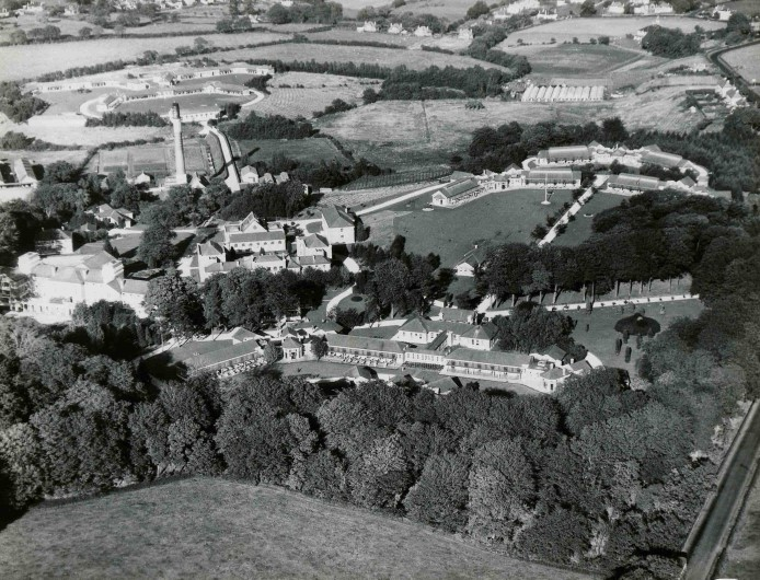 An aerial view of Mearnskirk Hospital