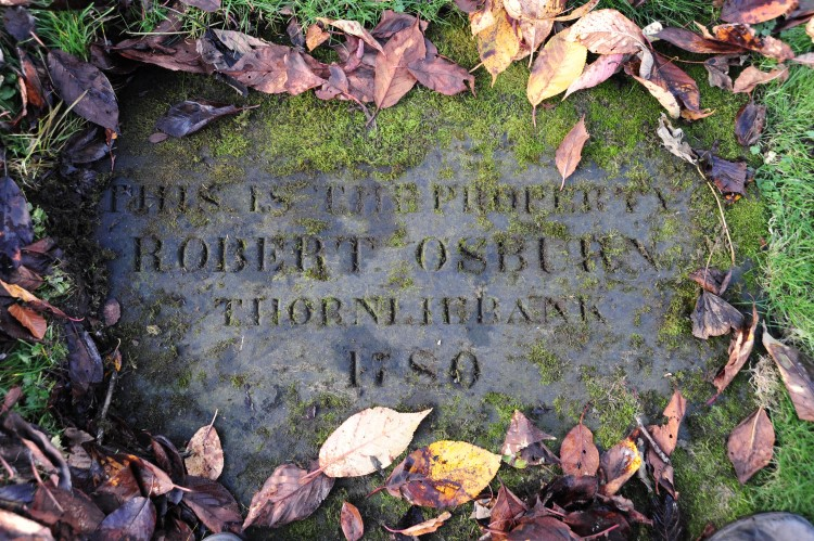 The grave of Robert Osburn in Eastwood Cemetery
